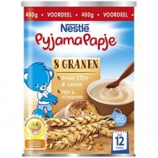 Nestlé Pyjamapapje 8 granen 12 maanden 雀巢Nestle米糊罐装400g 12个月以上