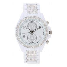 BIJOU & RIGITTE Watch - White Crystals