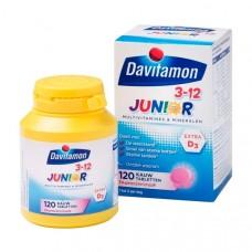 Davitamon Junior multivitamines framboos 3-12 year 120 stuks Davitamon青少年多种维生素覆盆子3-12岁 120粒