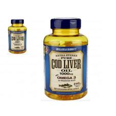 De Tuinen Cod Liver Oil 1000mg 花园鳕鱼鱼油  240粒