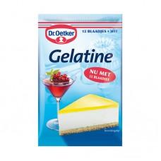 Dr. Oetker Gelatine Wit 12 Blaadjes 20g  Dr. Oetker 吉利丁粉白色12片20g