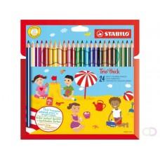 Kleurpotlood Stabilo Trio dik 24 kleur 彩色铅笔Stabilo24色三重奏