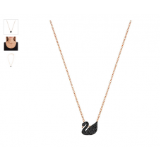 Swarovski  Iconic Swan Small Pendant (gold black)5204133 施华洛世奇标志性黑天鹅小吊坠