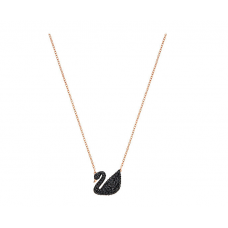 Swarovski Iconic Swan Pendant  (gold and black) 5204134 施华洛世奇金色大黑天鹅项链