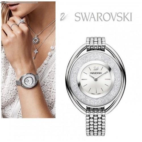 Oval Bracelet 5181008 Swarovski Crystalline Watch 施华洛世奇 White D9HEWI2